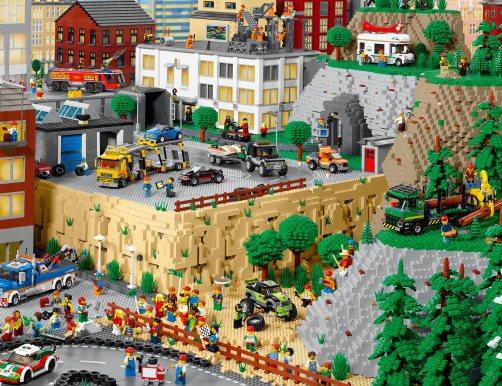 thành phố nhựa lego